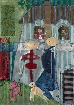 senza titolo - acrilico, tessuto su tela - 106x75 - 2012