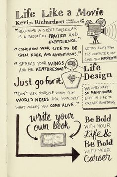 Kevin Richardson – Life Like a Movie (sketch notes by seanwes)