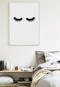 Lashes - Scandinavian Print - Bedroom Print - Home Poster - Minimalist Poster - Affiche Scandinave