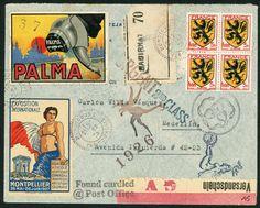 Palma Heel. Original Mail Art by Nick Bantock.