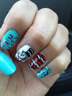 Dr. Seuss nail art