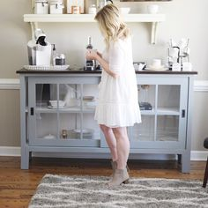 Simple white dress//Kate Bryan from The Small Things Blog