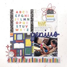 School Scrapbook Layouts, Scrapbooking Layouts, Scrapbook Pages, Image Layout, Glitter Girl, Project Life, Book Lovers, Sketches, Learning