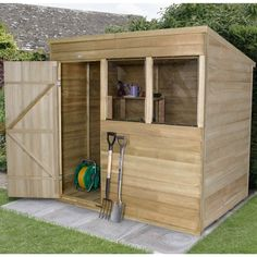 forest garden pressure treated shiplap pent shed 7 x 5 gardens forests and products
