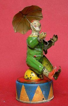 """1905 Eberl """"Clown with Umbrella"""""""
