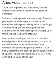 Aquarius and aries sexually