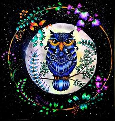 coruja floresta encantada - autor desconhecido