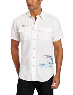 Nautica Men's Short Sleeve Solid Linen Shirt « Clothing Impulse