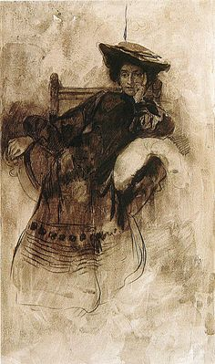 Study of a Woman Sitting in an Armchair by Alfons Mucha c98f7861e4