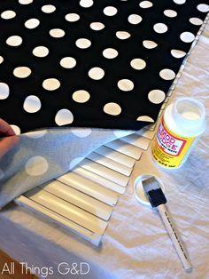 Cómo hacer bricolaje cortinas romanas para Windows WIDE Uso Mini persianas | www.allthingsgd.com