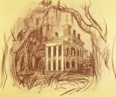 Disneyland Haunted Mansion Concept Art with E-Ticket Interview