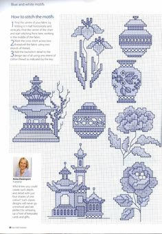 Blue and White Motif Part 3 Cross Stitch Numbers, Cross Stitch Boards, Just Cross Stitch, Cross Stitch Alphabet, Cross Stitch Flowers, Cross Stitch Designs, Cross Stitch Patterns, Cross Stitching, Cross Stitch Embroidery