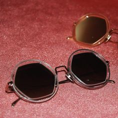 Vagati Eyewear (@vagatieyewear) • FREYA -THE FIERCE AMOUNT OF ENERGY- FOR A FUTURISTIC LOOK www.vagati.ch▪️▪️ #byvagati #vagatieyewear #carryyourmoodaround #freya #hexegonal #shape #roundframe #round #sunglasses #sunglassesfashion #fashionable #trendy #style #eyewear #eyewearfashion #eyewearstyle #sunglasseslover #spectacles #shades #timeless #shades #vagati Round Frame, Trendy Style, Futuristic, Eyewear, Round Sunglasses, Shades, Fashion, Moda, Style Fashion