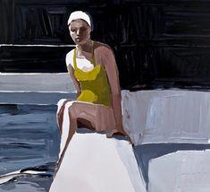 Swimmer by Clara Adolphs Painting People, Drawing People, Figure Painting, Painting & Drawing, Acrylic Artwork, Famous Art, Vintage Swim, Sculpture Art, Metal Sculptures