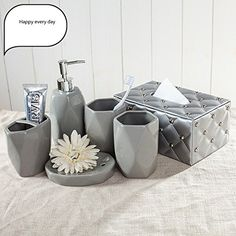 WYMBS Christmas gift simple Europeanstyle ceramic bathroom toiletries five piece mug set T