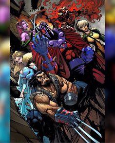 Gerardo Sandoval - Age of Apocalypse Marvel Comic Character, Comic Book Characters, Marvel Characters, Comic Books Art, Comic Art, Xman Marvel, Marvel Dc Comics, Marvel Heroes, Epic Heroes