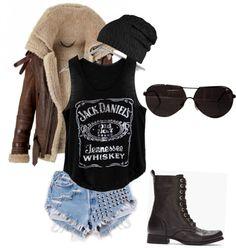 Haaaaamazing outfit. I need a Jack Daniels shirt.