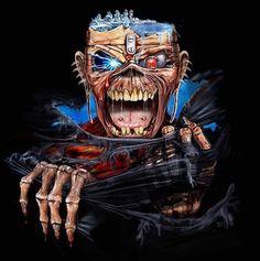 Iron Maiden Mascot, Iron Maiden Posters, Eddie The Head, Where Eagles Dare, Gothic Rock, Heavy Metal Bands, Post Punk, Dark Art, Hard Rock