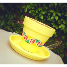 Hand painted flower pot for my backyard