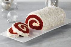 Red Velvet Yule Log