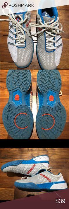 K Swiss men's tennis shoes size 8.5 K Swiss Men's Tennis Shoes. Size 8.5. Gently used. Very clean! k swiss Shoes Athletic Shoes