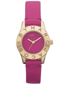 Marc by Marc Jacobs Watch, Women's Grape Leather Strap 26mm MBM1209  $200