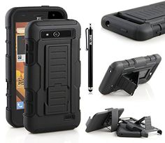 Zte Speed Case, Ranz® Black Rugged Impact Armor Hybrid Kickstand Cover With Belt Clip Holster Case For Zte Speed http://www.smartphonebug.com/accessories/best-17-zte-speed-cases-and-covers/