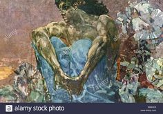 A reproduction of Mikhail Vrubel s painting Sitting Demon 1890 From Stock Photo, Royalty Free Image: 22975465 - Alamy