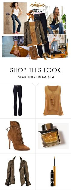 """""""Day to Night!"""" by schneerose ❤ liked on Polyvore featuring Veronica Beard, jon & anna, Gianvito Rossi, Burberry, Chanel, MAC Cosmetics and Lucky Brand"""