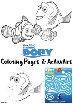 Free Finding Dory Printable Coloring Pages and Activity Sheets!