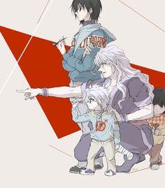 The Zoldyck family training Killua. Killua, Hisoka, Hunter X Hunter, Hunter Anime, Hunter Fans, Monster Hunter, I Love Anime, Anime Guys, Silva Zoldyck