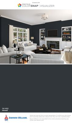 I found this color with ColorSnap® Visualizer for iPhone by Sherwin-Williams: Inkwell (SW 6992).