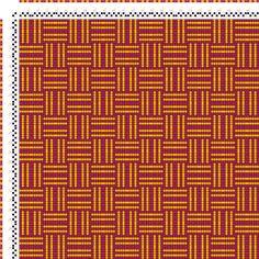 draft image: Karierte Muster Pl. X Nr. 6, Die färbige Gewebemusterung, Franz Donat, 2S, 2T
