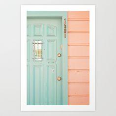 @Susanna Irene everywhere i look now it's mint & peach! Pastel House Art Print by JoyHey - $20.00