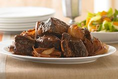 Celebrate Passover with succulent slow-cooker beef ribs that have a hint of coffee. Our Slow-Cooker Beef Ribs for Passover are falling-off-the-bone tender.