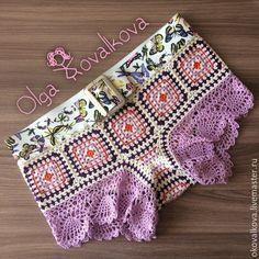 Шорты пляжные крючком. Мотивы крючком. #summer_crochet_shorts #crochet_motives