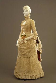 Dress ca. 1884 From the Galleria del Costume di Palazzo Pitti via...