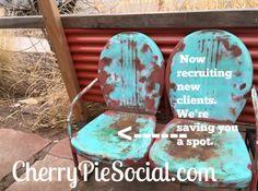 Saving a spot for YOU! #CherryPieSocial #SantaFeNM