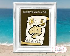Welcome on board Captain ! - Wall Art Print ~ Instant download, JPG PDF Printable