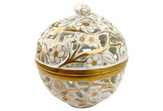 Strawberry pattern Herend Porcelain Box w/ Pierced Decoration by Ruby + George on @One Kings Lane