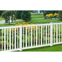 Wam Bam No Dig Fence Sturbridge Vinyl Yard And Pool Fence With Post And  Steel