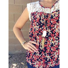 I want this top! Papermoon birch lace detail blouse.