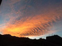 Atardecer. El cielo en llamas 9:15p.m. 13/05/2014