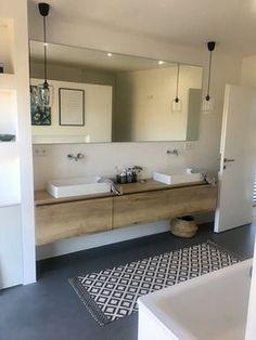 20 Shower Room Paint Colors That Always Look Fresh as well as Clean Large Bathrooms, Small Bathroom, Modern Bathroom Vanities, Ideas Baños, Bathroom Renos, Wood Bathroom, Bathroom Ideas, Bathroom Interior Design, Beautiful Bathrooms