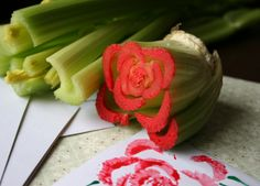 Got celery? You've got a rose stamp.
