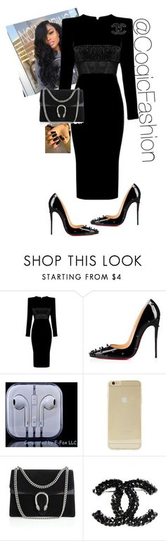 """""""State Meeting!!"""" by cogic-fashion ❤ liked on Polyvore featuring Alex Perry, Christian Louboutin, Sonix and Gucci"""