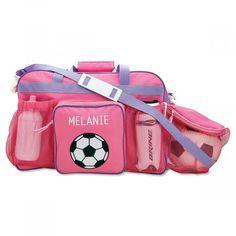 Pink Soccer Sport Bag   Lillian Vernon