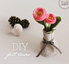 HaGi by Herzig ♥ Genaehtes: DIY Tutorial | Make Your Own Felt Vases