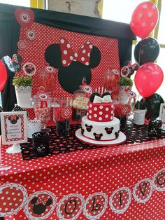 Olives Red Minnie Mouse Party