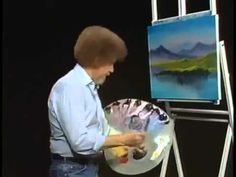 Bob Ross and The Joy of Painting Instant reflections from DVD #D3114D...